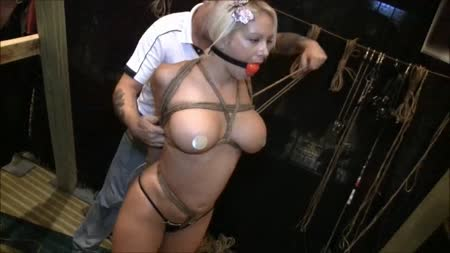 Carissa montgomery hogtied on bed - 4 9